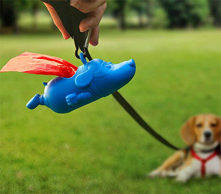 Mighty Dog: Superman Dog Poop Bag Dispenser