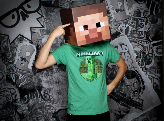 Minecraft Steve Head Costume 1