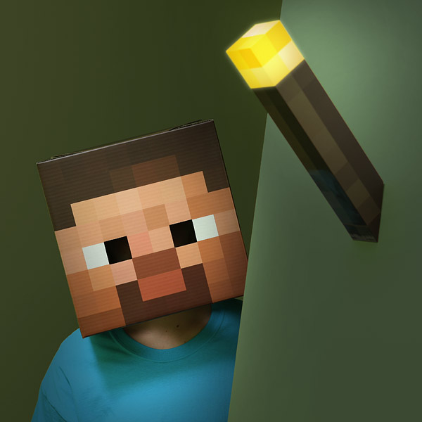 Minecraft Steve Head Costume 3