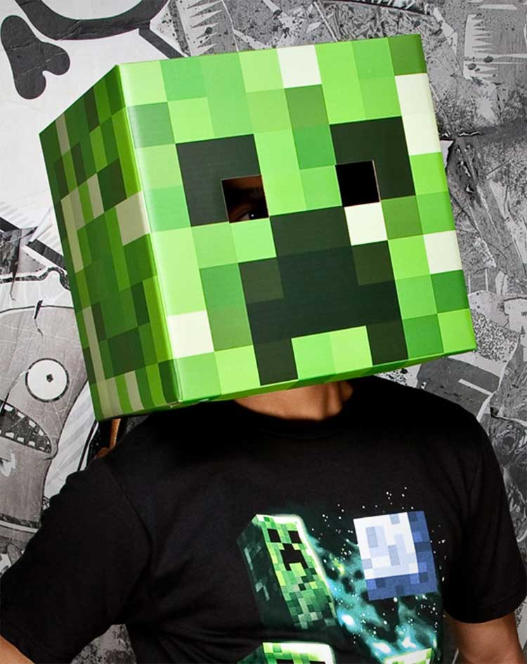 Minecraft Steve Head Costume 4