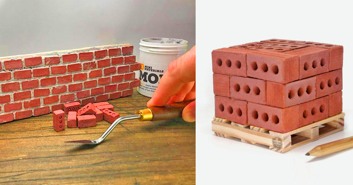 Mini Cement Bricks and Mortar Let You Build Your Own Tiny Wall
