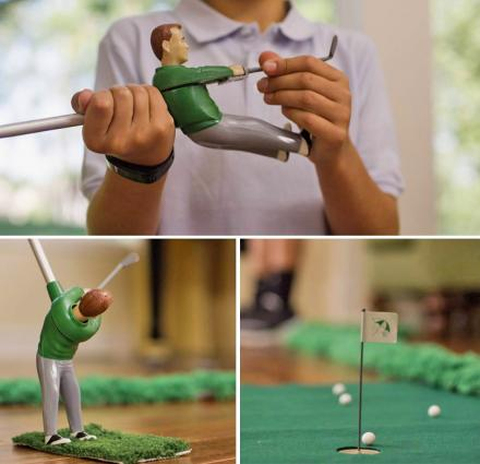 Mini Golfing Man Indoor Golf Game