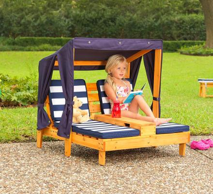 Mini Outdoor Chaise Lounger For Kids