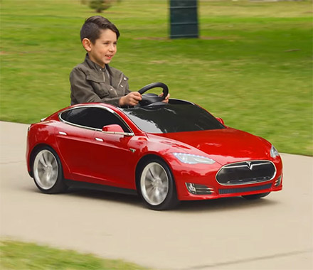 Mini Tesla Model S Kid's Toy Car