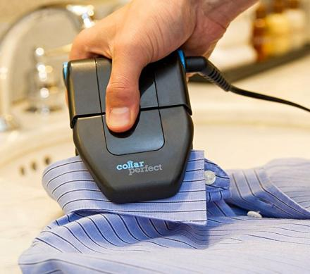 Collar Perfect: A Mini Travel Iron That's Perfect For Getting Collars