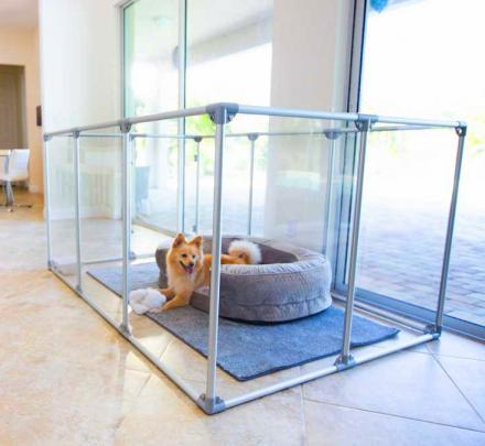 Modern Design Glass Dog Pens