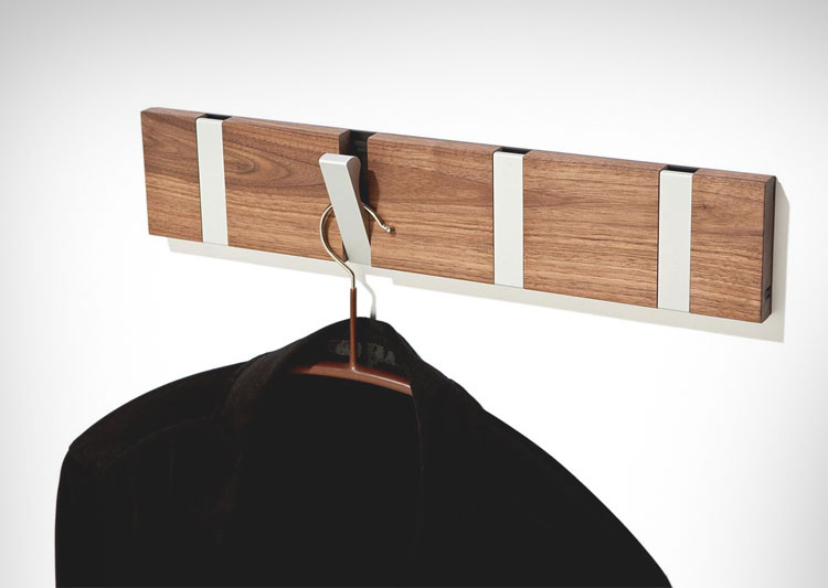Modern design knax coat hooks for Contemporary coat hooks