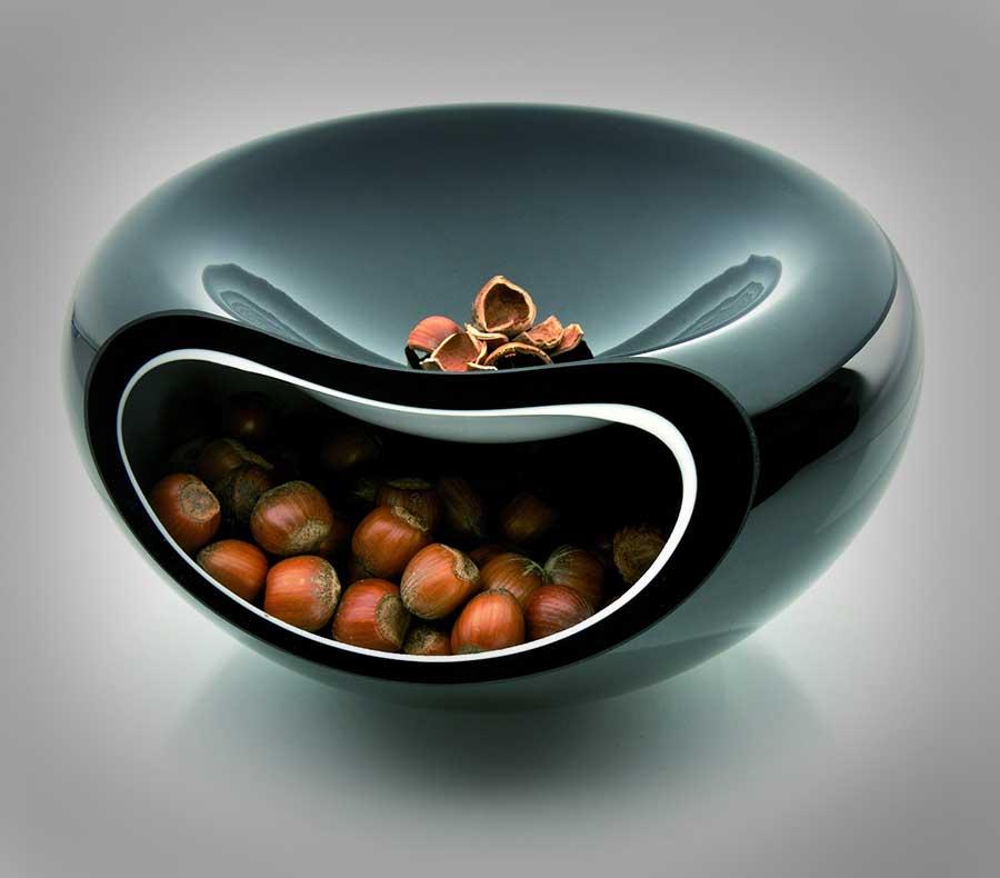 Modern Glass 2 In 1 Bowl