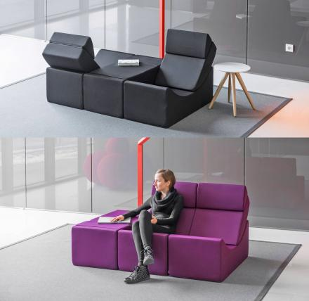Moon Chaise Lounge Lets You Create Many Different Arrangements