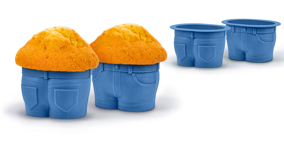 Muffin Top Jeans Muffin Molds (Set of 4)