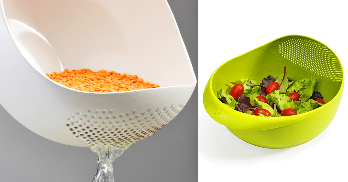Multi-Function Bowl With Integrated Colander