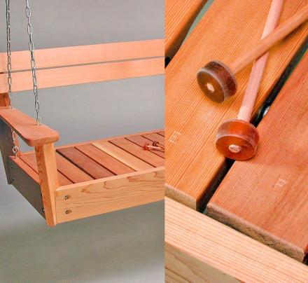 Musical Porch Swing Functions as a Xylophone