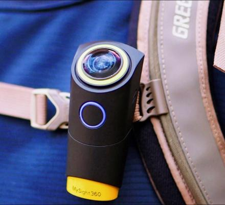 MySight360: Wearable Action Camera Records Self-Stabilizing Panoramic Video