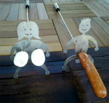 Naughty Hot Dog Amp Marshmallow Cooking Sticks