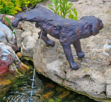 Naughty Peeing Dog Water Fountain Statue