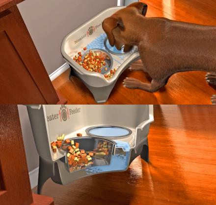 Neater Feeder: A Dog Feeding Station That Absorbs Spilt Water