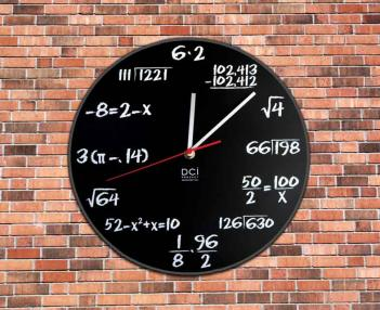 Nerdy Mathematics Wall Clock