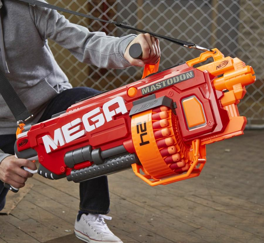 Nerf guns have certainly gotten better since I played with them as a child.  The best thing I had was a Nerf bow-and-arrow that shoots this big silly  arrow ...