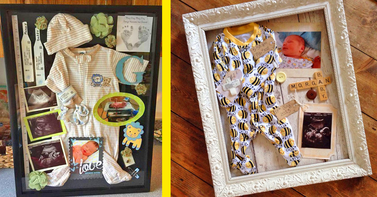 Newborn Shadow Boxes Are Now a Thing, and We Totally Love The Idea