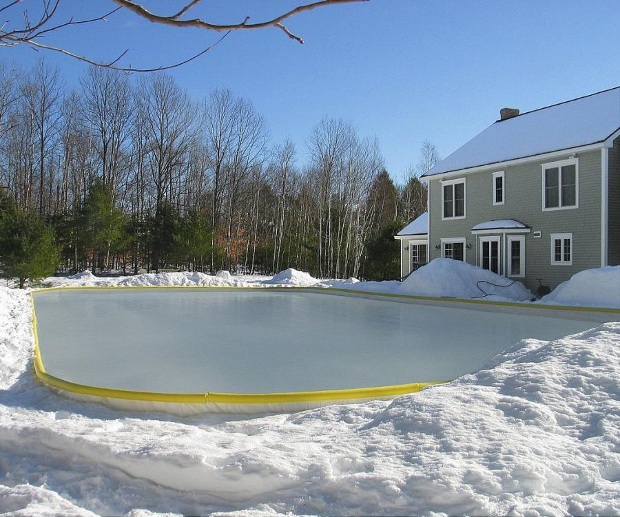 How To Make An Ice Skating Rink In Your Backyard nicerink backyard ice rink kit