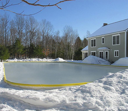 Beautiful NiceRink Backyard Ice Rink Kit