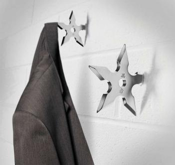 Ninja Star Coat Hanger