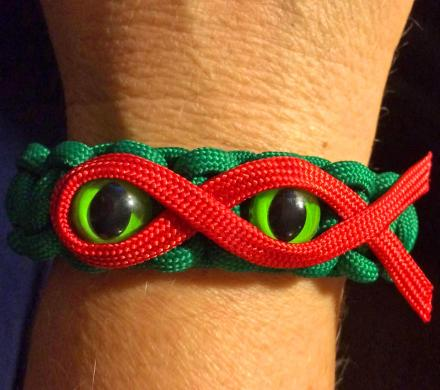 Ninja Turtles Bracelets | TMNT Paracord Eyes and Mask Bracelet