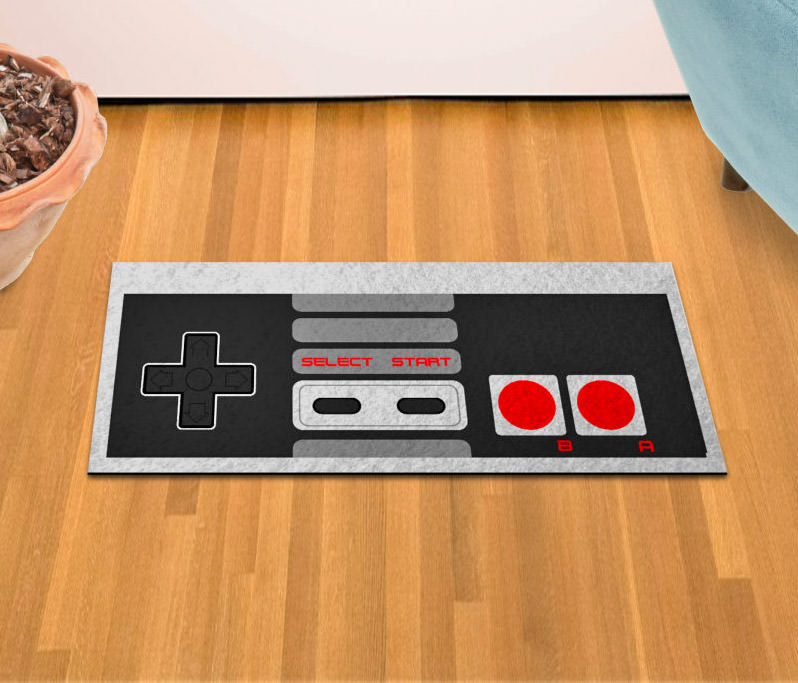 You\u0027ve seen the retro SNES controller floor mat but what about some love for the even older console the NES? This floor mat looks just like the controller ... & Nintendo NES Controller Floor Mat