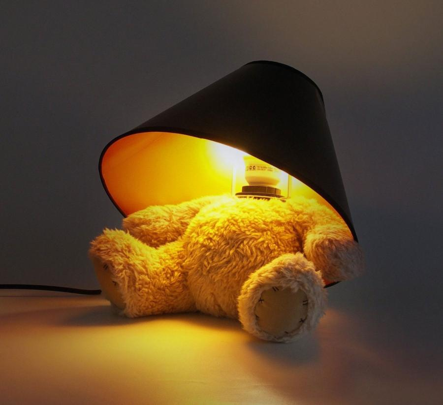 The Teddy Bear Lamp Is A Lamp Thatu0027s Made From A Teddy Bear But Instead Of  Having A Regular Snugly Teddy Bear Head, Their Head Was Ripped Off And The  Top Of ...