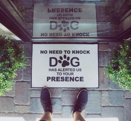 No Need To Knock, The Dogs Have Alerted Us To Your Presence Doormat