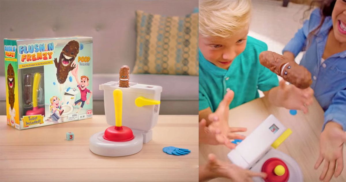 This Toilet Based Kids Game Makes You Catch a Flying Poo After Plunging a Toilet