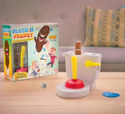 OMG, There Is A Game That Involves Plunging And Trying To Catch Poo…