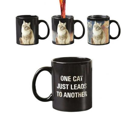 One Cat Leads To Another Heat Changing Mug