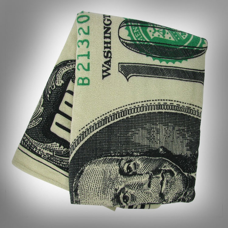 One Hundred Dollar Bill Towel 2
