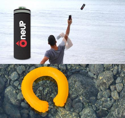 OneUp: Throwable Life-Preserver That Opens Upon Contact With Water