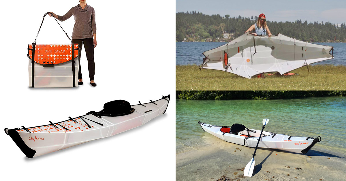 This Collapsible Kayak Folds Down to The Size of a Suitcase