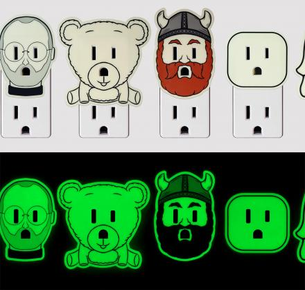 Outlights: Decals That Make Your Power Outlets Glow-in-the-Dark
