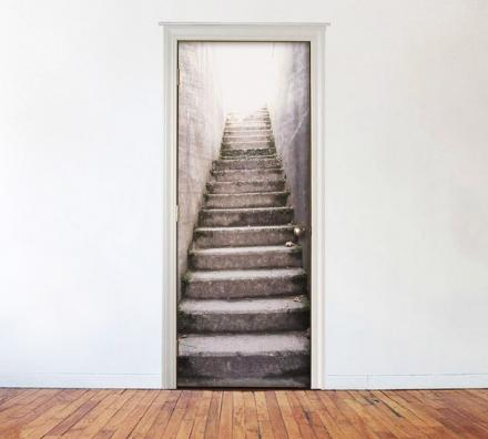 Outside Concrete Stairs Door Mural