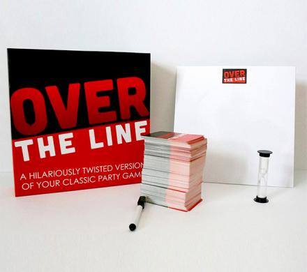 Over The Line Party Game: An Adult Version Of Pictionary/Charades
