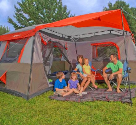 Ozark Trail 3-Room Camping Tent - Fits 12 People