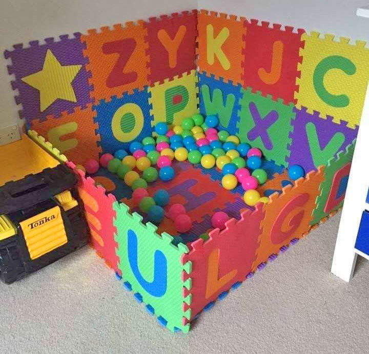 Play Mats Let You Build Your Own Ball Pit