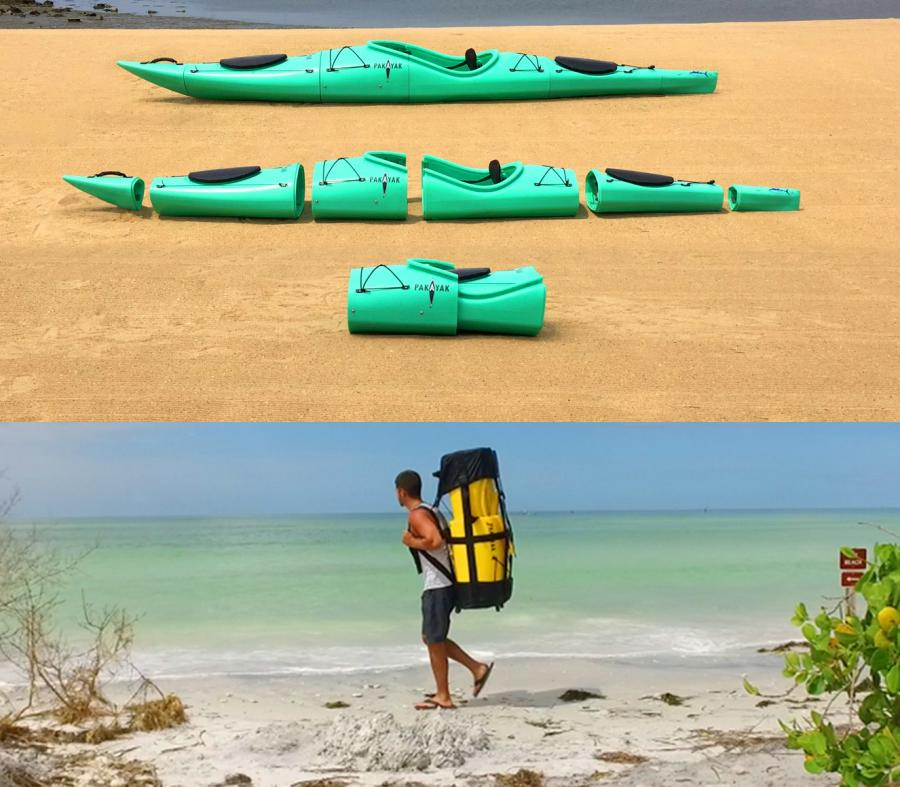 Pakayak: A Portable Kayak You Can Wear Like a Backpack