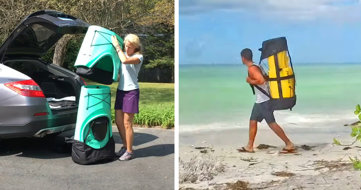 Pakayak Is A Folding Portable Kayak That You Can Wear Like a Backpack