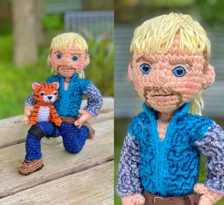 There's Now a Pattern To Create Your Very Own Crochet Joe Exotic Tiger King