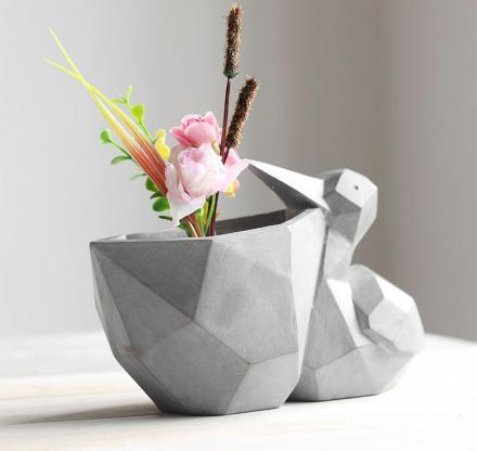 Geometric Pelican Flower Pot