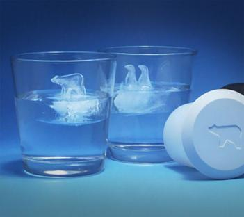 Penguin and Polar Bear Ice Cubes