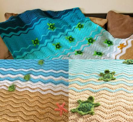 People Are Creating Crochet Sea Turtle Beach Blankets, And They Look Amazing