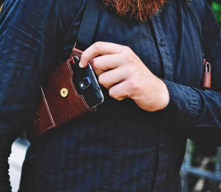 Phonster Is A Holster For Your Phone or Wallet Similar To A Detective