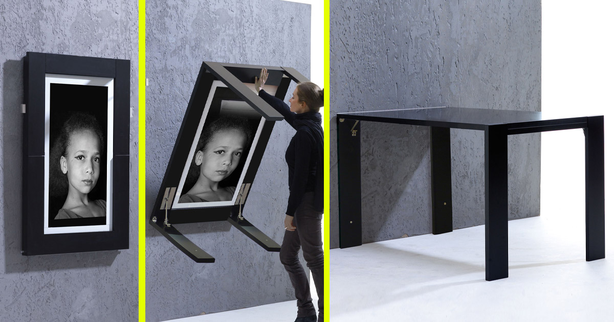 This Picture Frame Converts Into a Table For Smaller Homes and Apartments
