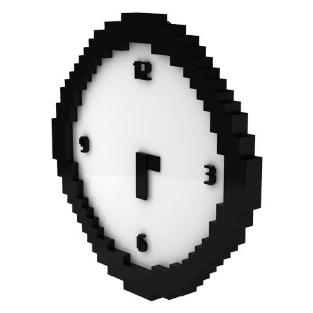 Pixelated Wall Clock 1